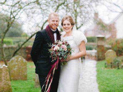 Southend Barns festive wedding Alice and Pat wedding