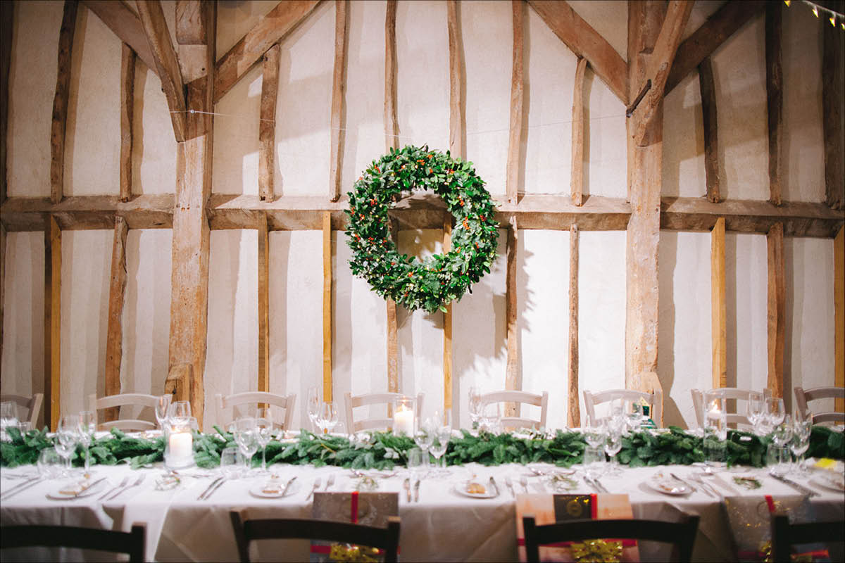 Southend Barns Christmas wreath