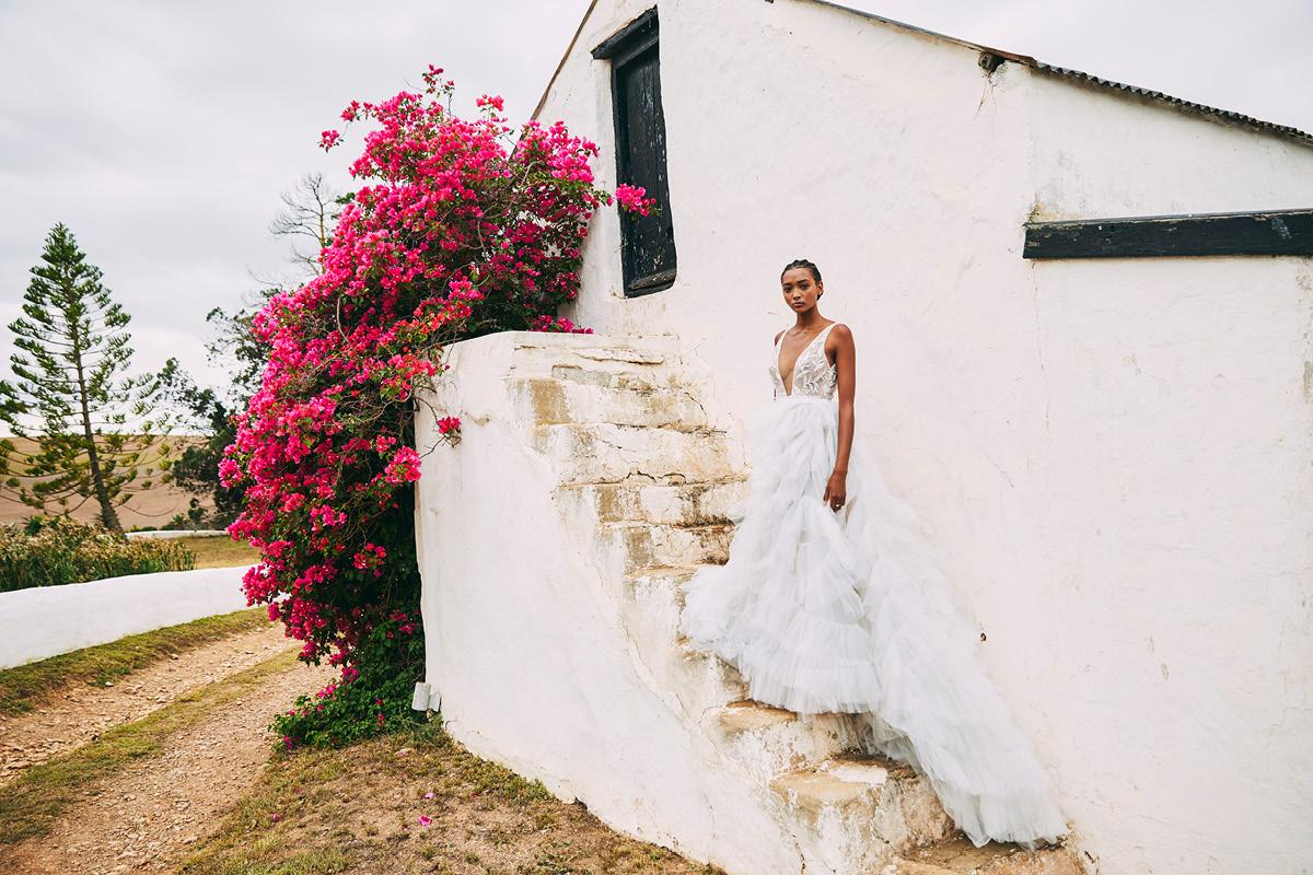 romantic wedding dresses Anna Georgina Bluebell skirt