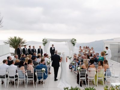 Far flung vows Santorini wedding