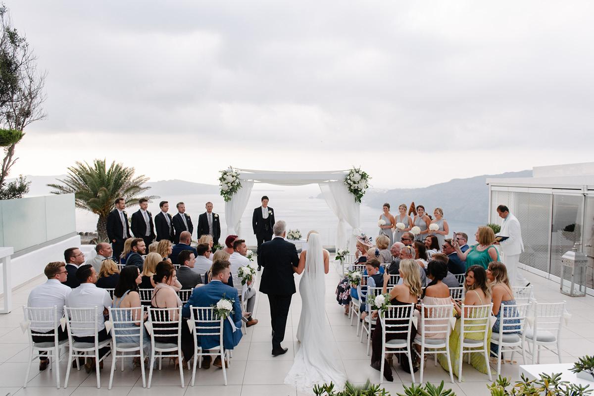 Far flung vows Santorini wedding