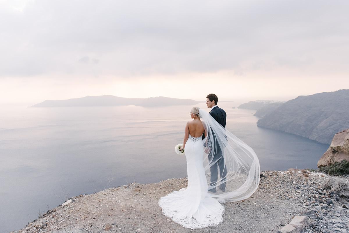 Far flung vows Santorini
