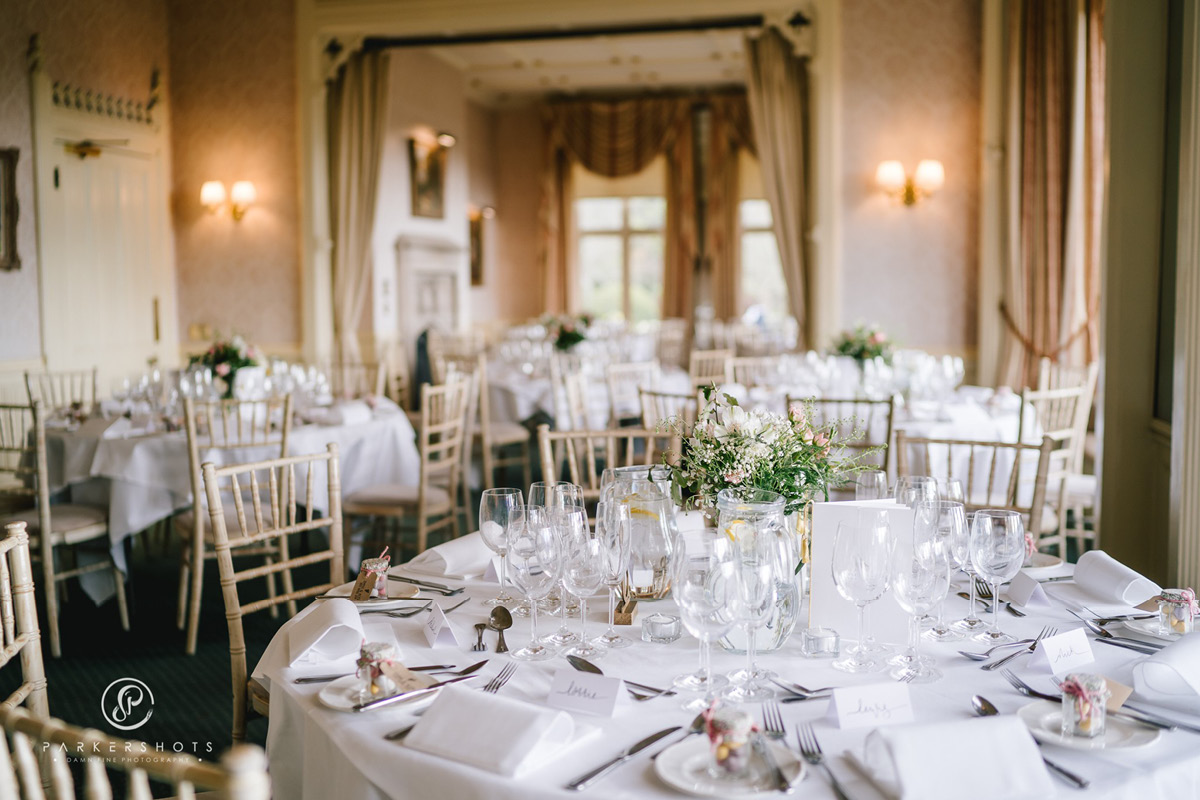 Horsted Place wedding breakfast