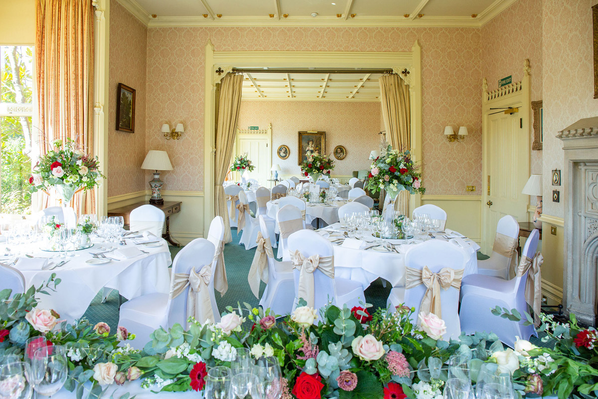 Horsted Place wedding setup