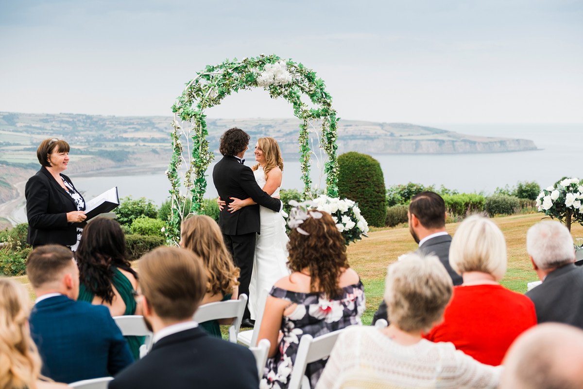 Raven Hall clifftop ceremony