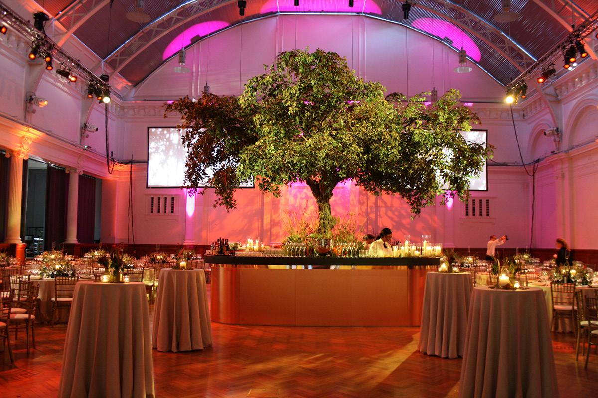 Royal Horticultural Halls wedding setup
