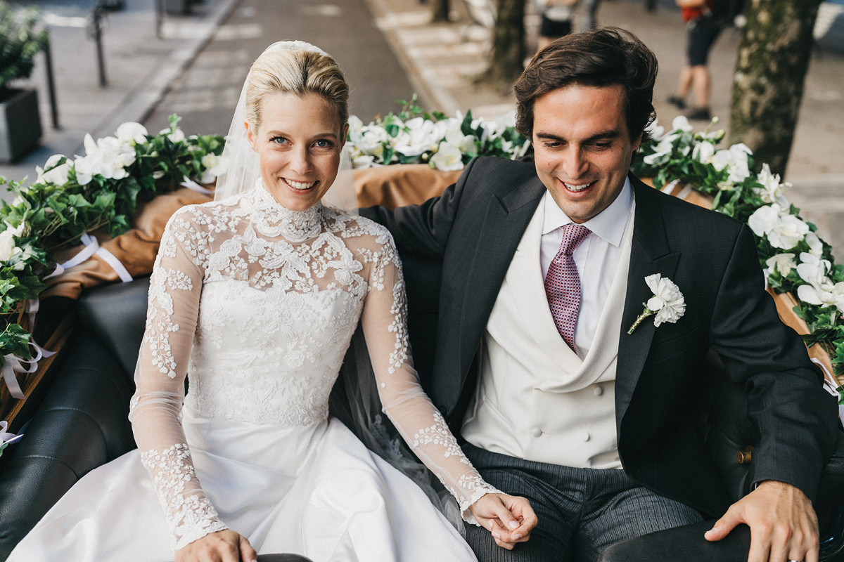 real wedding - Sabrina & Edouard carriage