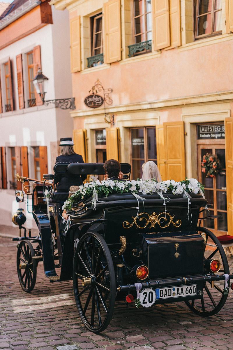 Sabrina & Edouard wedding carriage