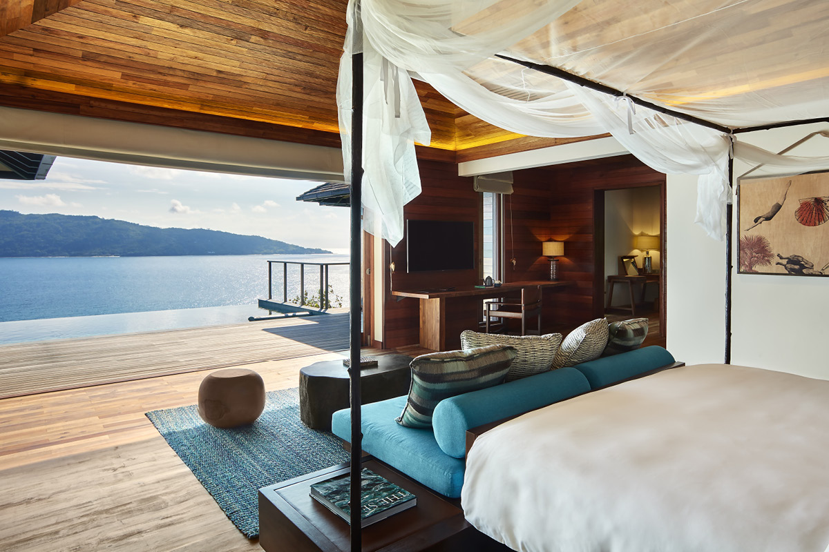 Six Senses Zil Pasyon Villa bedroom