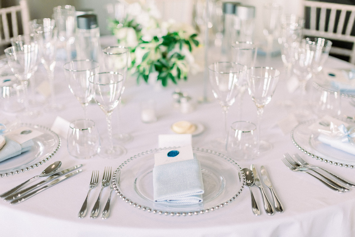 Aynhoe Park table setting
