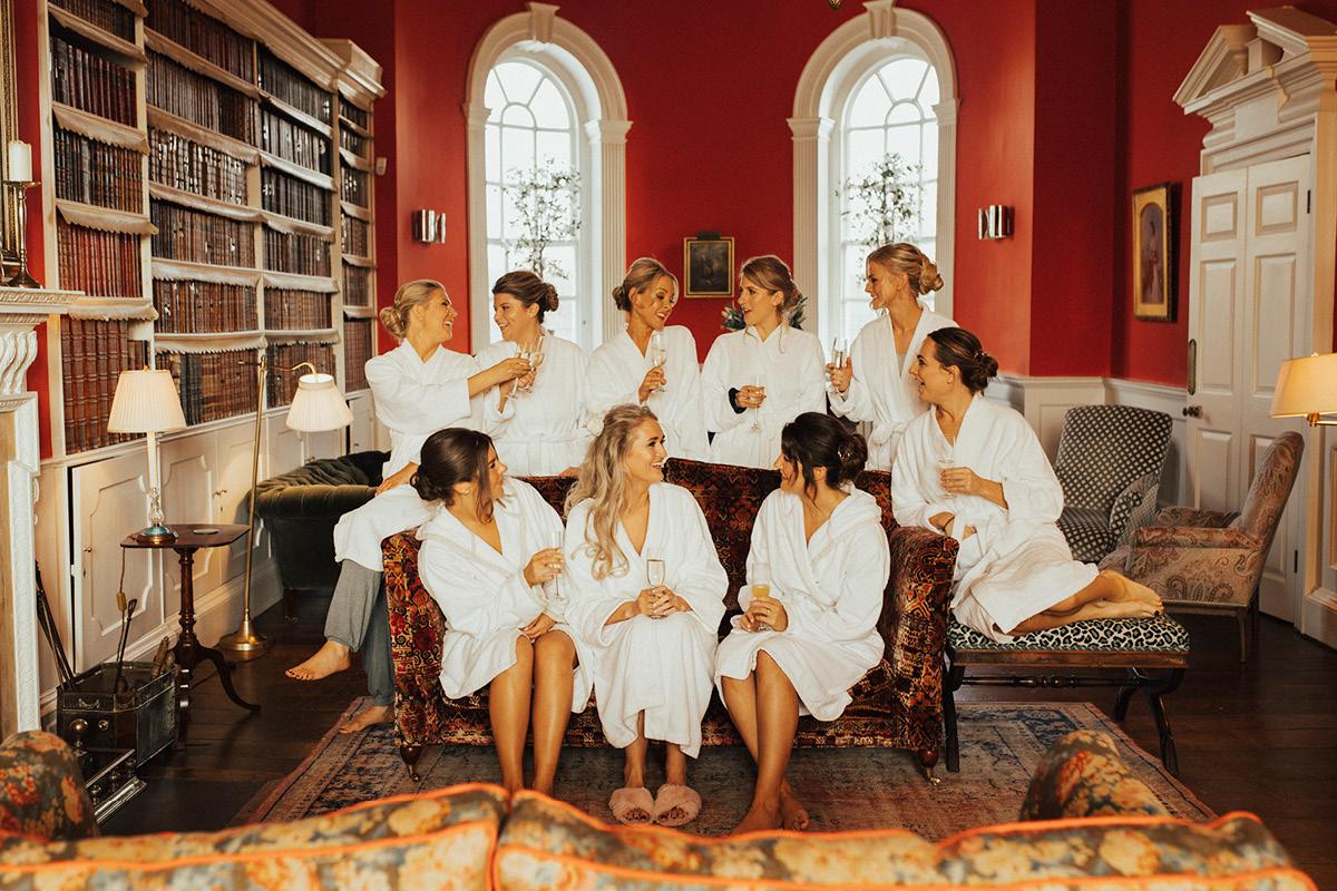 Iscoyd Park bridesmaids
