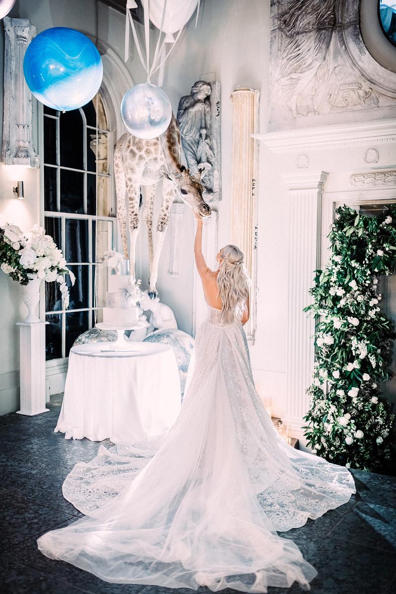 Aynhoe Park bride