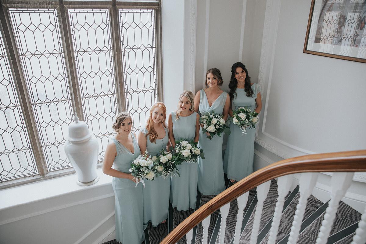 Horsley Tower bridesmaids