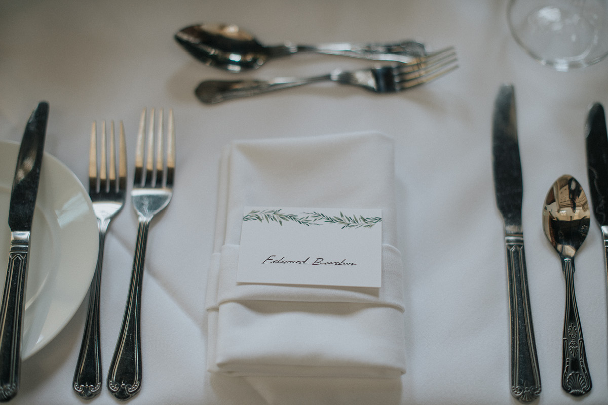 Horsley Tower place setting