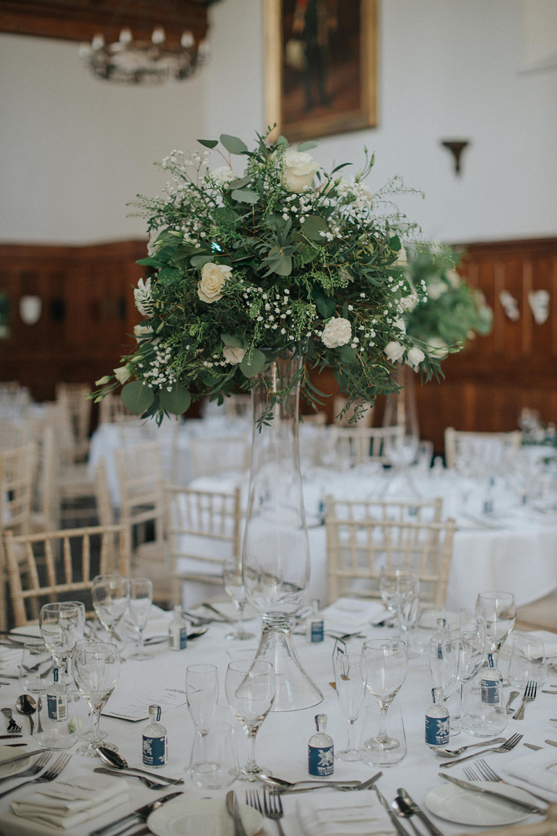 Horsley Towers table centrepiece