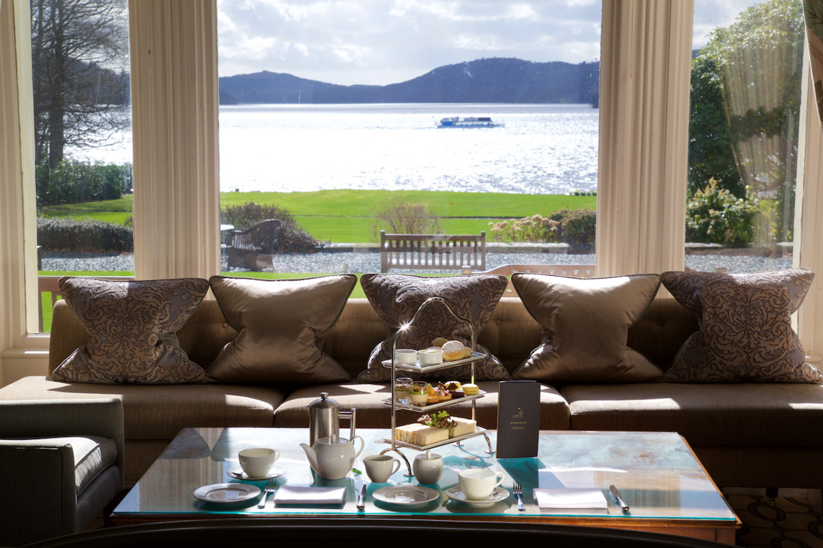 Lake District Storrs Hall afternoon tea